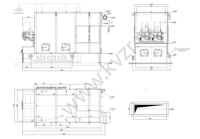 Котел КВм-3,5 с. КВм-3,5 ТЛЗМ).  Схема водогрейного котла. механической топкой ТЛЗМ-1,87/3,0.