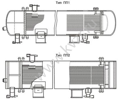 Схема пароводяного теплообменника